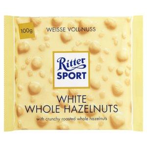 Ritter Sport Bílá čokoláda s lískovými oříšky 100g
