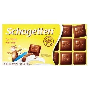 Schogetten Mléčná čokoláda s mléčnou náplní pro děti 100g