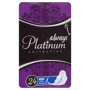 Always Platinum Collection Hygienické vložky ultra night 24 ks