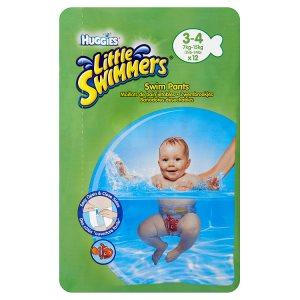 Huggies Little Swimmers Natahovací plenky na plavání 3-4 7-15kg 12 ks