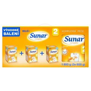 Sunar Complex 2 pokračovací sušená mléčná kojenecká výživa 3 x 600g