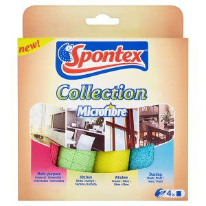 Spontex Microfibre collection sada utěrek z mikrovlákna 4 ks