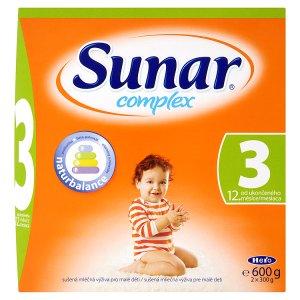 Sunar Complex 3 sušená mléčná výživa pro malé děti 2 x 300g