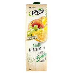 Rio Multivitamin vícedruhový ovocný nápoj s vitaminy a s přírodním sladidlem 1L