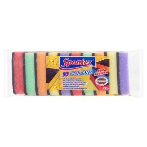 Spontex Colors houbička na nádobí 10 ks