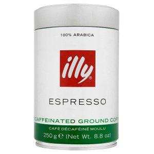illy Espresso bezkofeinová mletá káva 250g