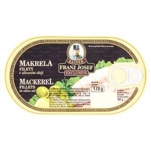 Kaiser Franz Josef Exclusive Makrela filety 170g, vybrané druhy