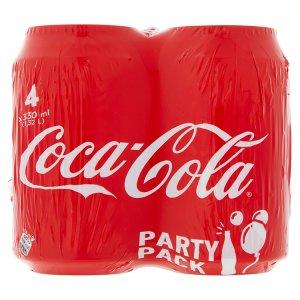 Coca-Cola 4 x 330ml, vybrané druhy