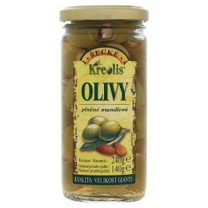 Kreolis Řecké olivy plněné mandlemi 240g