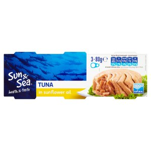 Sun & Sea Tuňák ve slunečnicovém oleji 3 x 80g