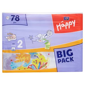 Bella Baby Happy 2 Mini jednorázové plenky 3-6kg 78 ks