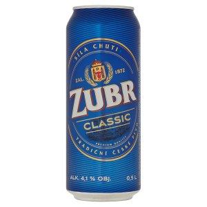 Zubr Classic světlé výčepní pivo 0,5l