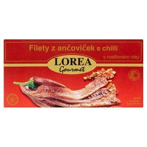 Lorea Gourmet Filety z ančoviček s chilli v rostlinném oleji 50g
