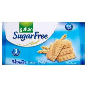 Gullón Vanilla wafer oplatky plněné krémem s vanilkovou příchutí bez cukru 210g