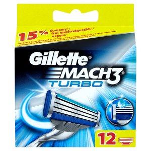 Gillette Mach3 Turbo náhradní hlavice k holicímu strojku 12 ks