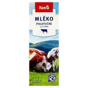 Tatra Mléko polotučné 1,5% tuku 1l