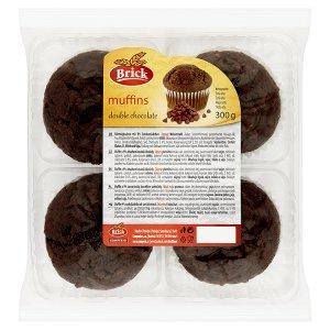 Brick Muffin double chocolate s obsahem kousků čokolády 300g