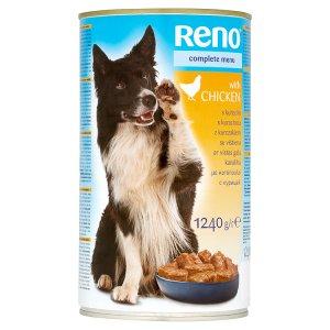 Reno Kompletní krmivo pro dospělé psy kousky s kuřecím v omáčce 1240g