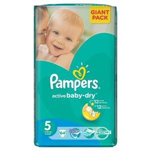 Pampers Active Baby-Dry Dětské jednorázové pleny 5 junior 64 ks