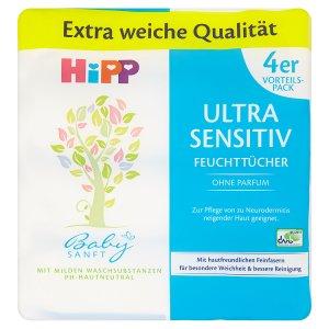 HiPP Babysanft Čistící vlhčené ubrousky 4 x 52 ks