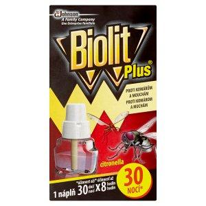 Biolit Plus Náplň do el. odpařovače s vůní citronelly proti komárům a mouchám 30 nocí 31ml
