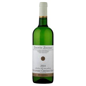 Znovín Znojmo Veltlínské červené rané odrůdové bílé víno jakostní polosuché 0,75l
