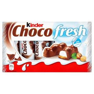 Kinder Choco fresh mléčná čokoláda s mléčnou a lískooříškovou náplní 5 x 21g