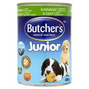 Butcher's Junior Kousky jehněčího masa v omáčce kompletní krmivo pro štěňata 400g