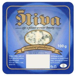 Niva Plnotučný přírodní plísňový sýr 100g