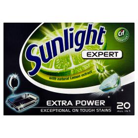 Sunlight Tablety do myčky nádobí 20 ks, vybrané druhy