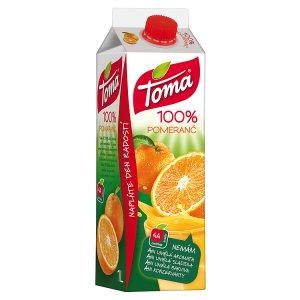 Toma 100% džus 1l, vybrané druhy