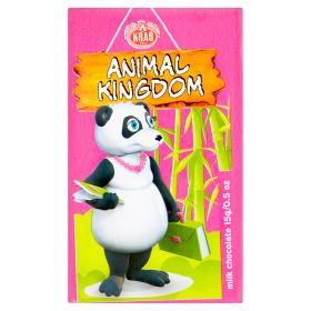 Mléčná čokoláda Království zvířat, 15 g