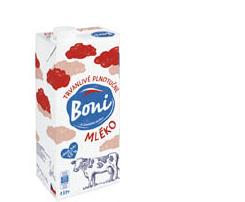 Boni mléko trvanlivé plnotučné 1l