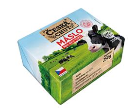 Česká chuť Máslo min. 82% tuku 250g
