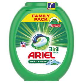 Ariel gelové kapsle 80 dávek, vybrané druhy