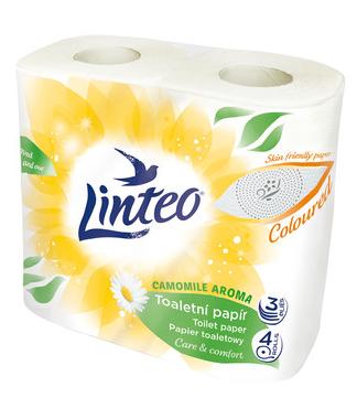 Linteo toaletní papír 4 ks 3-vrstvý