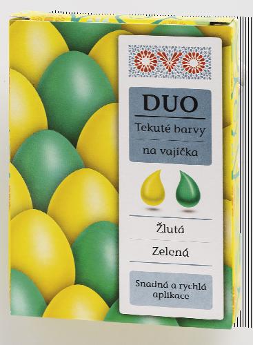 OVO tekuté barvy na vajíčka
