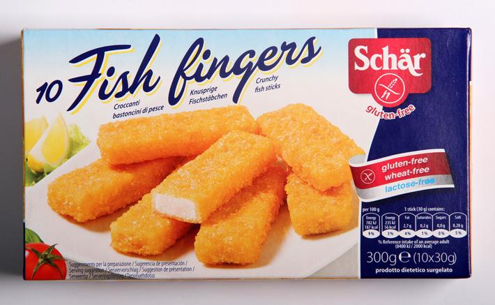 Schär 10 Fish fingers gluten-free
