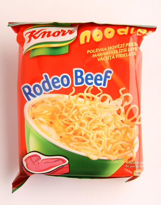 Knorr noodles Rodeo Beef