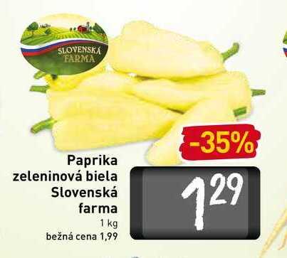 Paprika zeleninová biela Slovenská farma 1 kg