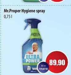 Mr.Proper Hygiene spray 0,75l