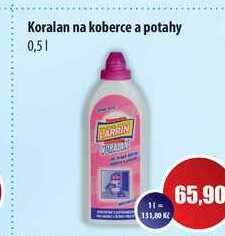 Koralan na koberce a potahy 0,5l