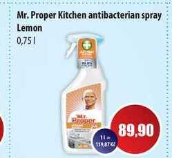 Mr. Proper Kitchen antibacterian spray Lemon 0,75l